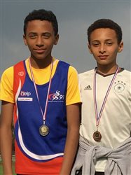 records club Benjamin - 1000 m et Triathlon - Wassim et Ethan